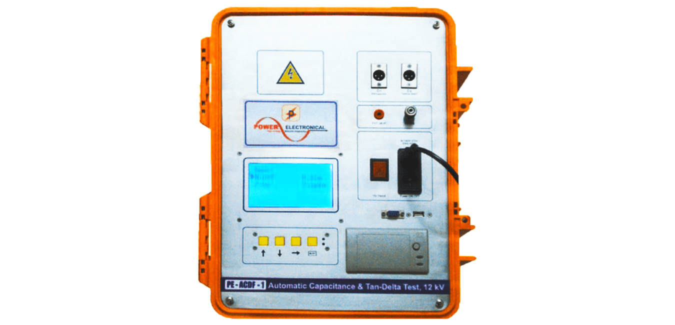 front view image of power electronical automatic capacitance and tan-delta test system or tester